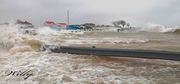 Ludington Michigan's boat launch parking lot takes a beating