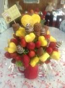 bouquet de frutas mug rojo