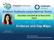 Webinar on Evidence and Gap Maps