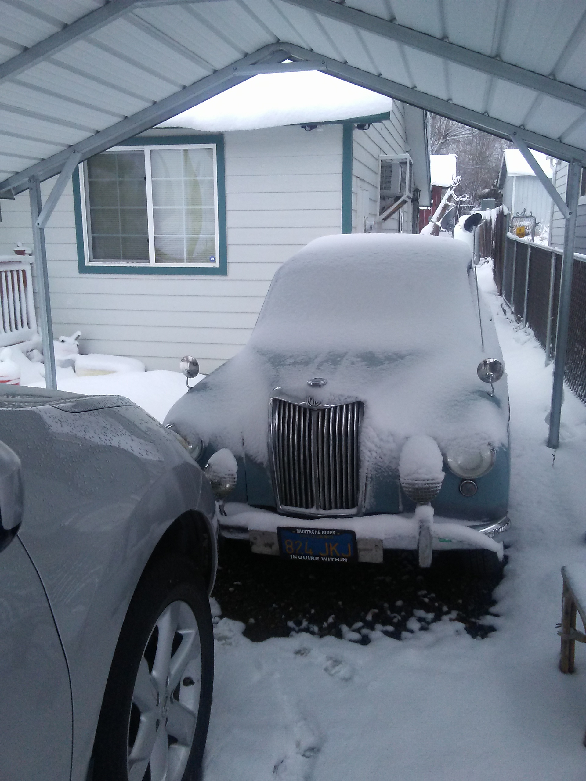 My 1958 MG ZB Magnette