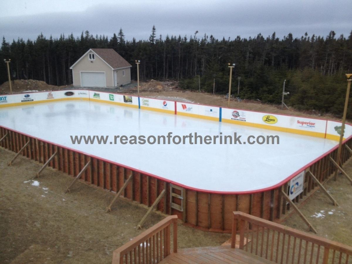 Rink with Ice (in progress) - Photos - My Backyard Ice ...