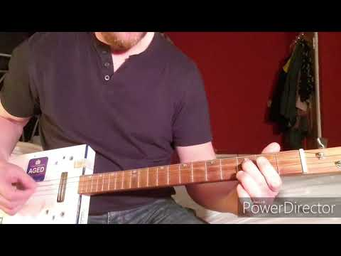 How To Play Kashmir by Led Zeppelin on Cigar Box Guitar