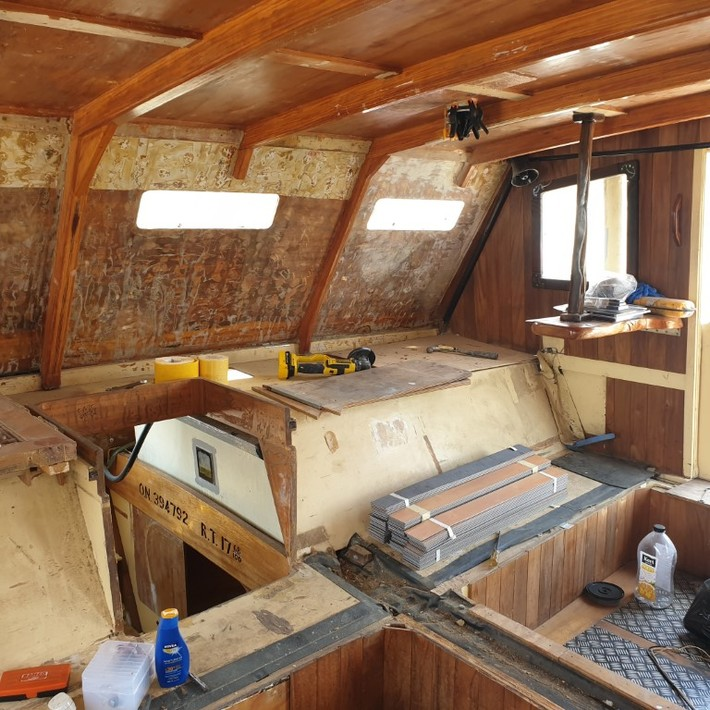 Starboard side of cabin after