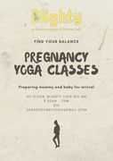 Prenatal Yoga Classes every Saturday at Blighty Cafe N15
