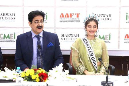 AAFT Alumna Vridhi Now Miss Universe Teen Asia