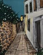 2019-41 Evening of a village on Crete Island