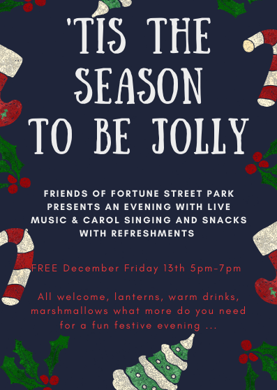 Invitation Seasonal Sing Along with live music in park