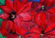 Poinsettia 6 (2) oil pastel on canvas RLO dic 2019 - copia