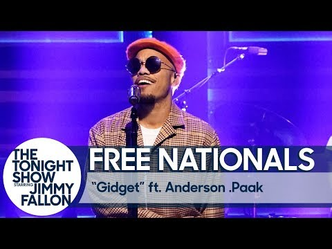 "Free Nationals performs ""Gidget"" with Anderson .Paak on the Tonight Show"