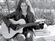 Martha B & W Guitar by Michelle Baker copy