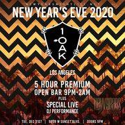 1 OAK LA New Years Open Bar Tickets