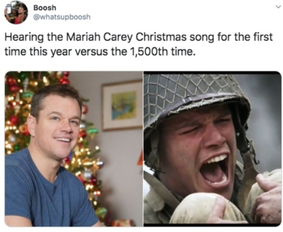 Christmas music is annoying. Just sayin.