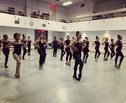 RADIO CITY ROCKETTES MENTOR THE HARLEM SCHOOL OF THE ARTS DANCE ENSEMBLE THE HARLEMETTES IN ADVANCE OF THEIR KAY PLAYHOUSE APPEARANCE IN DECEMBER