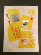 Collage on top of letterpress print