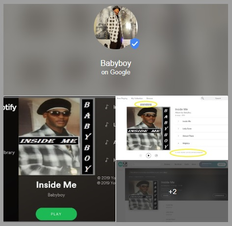 "Baby Boy Profile Is Now Verified  By Google With ""Blue Check Mark"" Young Gifted Entertainment... https://posts.google.com/share/0V5DRlYR?hl=en-US"