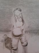 Quck Pencil Sketch Feeding Chicks