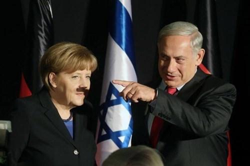 netanyahu-accidentally-gives-merkel-a-shadow-makeover