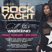 ROCK THE YACHT CHICAGO ALL STAR WEEKEND 2020 ALL BLACK YACHT PARTY