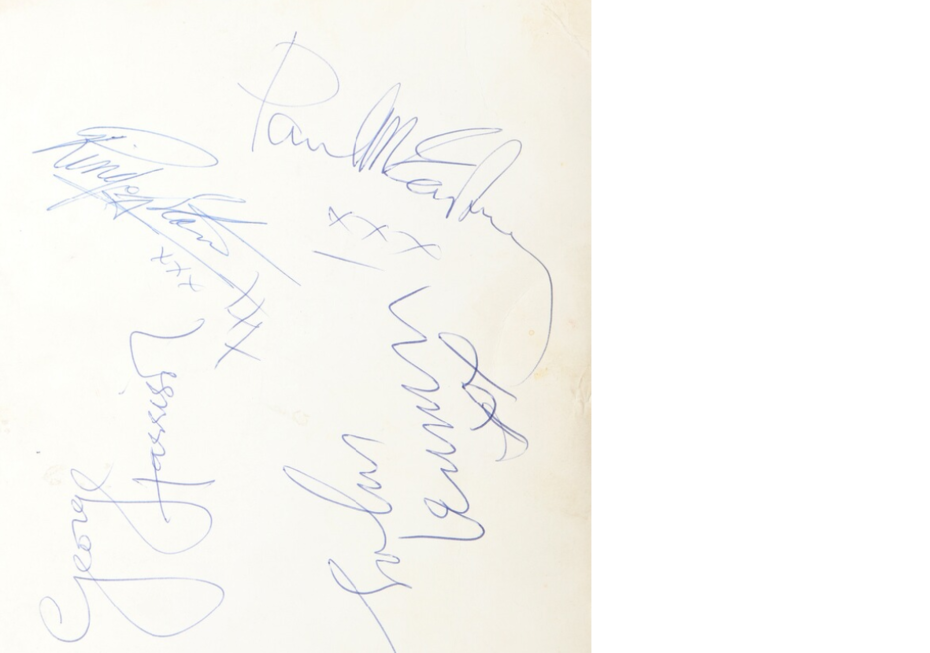 Beatles autografer