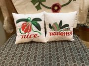 Christmas pillows for 2019 swap