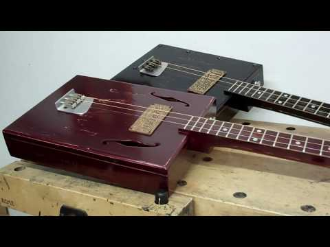 Double Trouble - Triple Threat - Fuzzy Whitener on Cigar Box Guitar