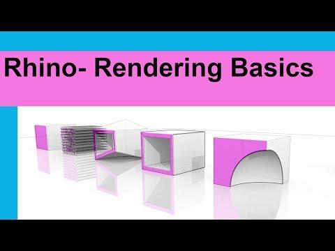 Rhino Rendering Basics