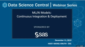 DSC Webinar Series: ML/AI Models: Continuous Integration & Deployment