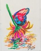 Papillon posé sur la fleur