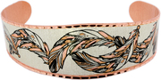 Copper Feather Bracelets
