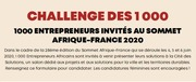 African Entrepreneurs, Take Part in the Challenge of 1000 at the Africa-France Summit (June 2020). Applications open til 31 Jan. 2020