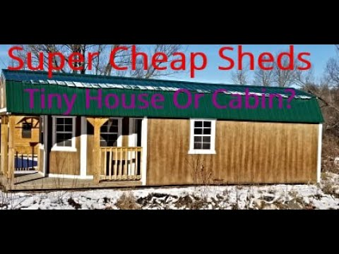 Super Cheap Sheds - Off Grid Cabin - Tiny Home