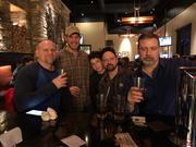 Sam Adams Winter Lager with the Xmas crew at Firebirds 2019.