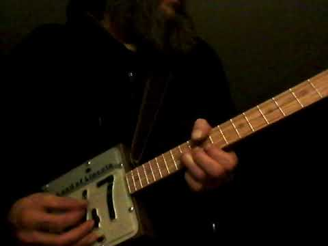 Original 3 String Tune on License plate Guitar Wed. 12/25/19