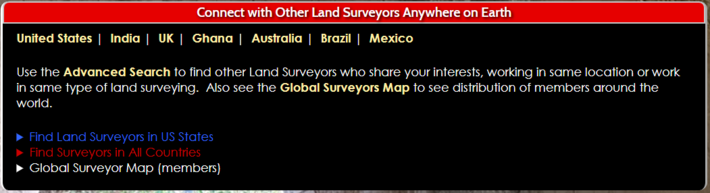 Connect with Land Surveyors Anywhere on Earth
