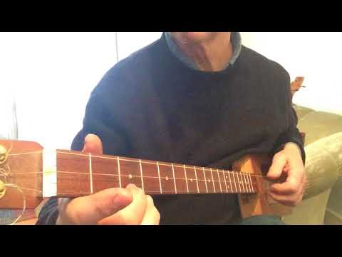 Beginners moves and exercises for 3 string  cigarbox guitar