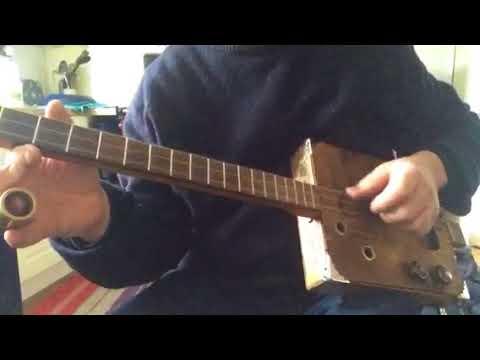 Cigarbox guitar blues slide lesson  dgd Robert Johnson advanced beginner -intermediate