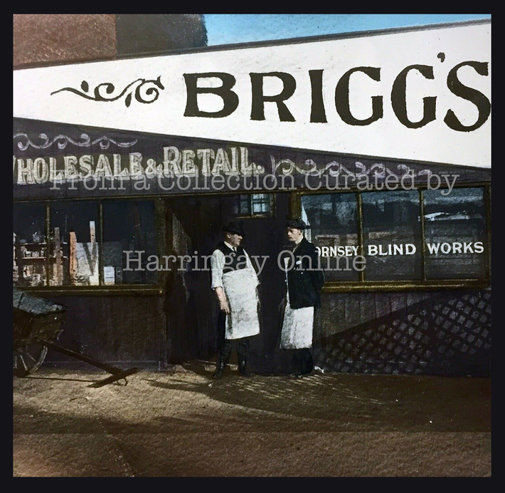 Briggs Blinds, Falkland Road, c1902
