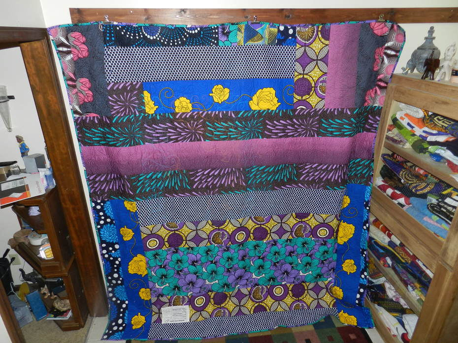 Back of King Black Panther Quilt