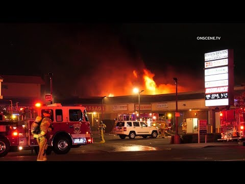 Anaheim Three-Alarm Strip Mall Fire
