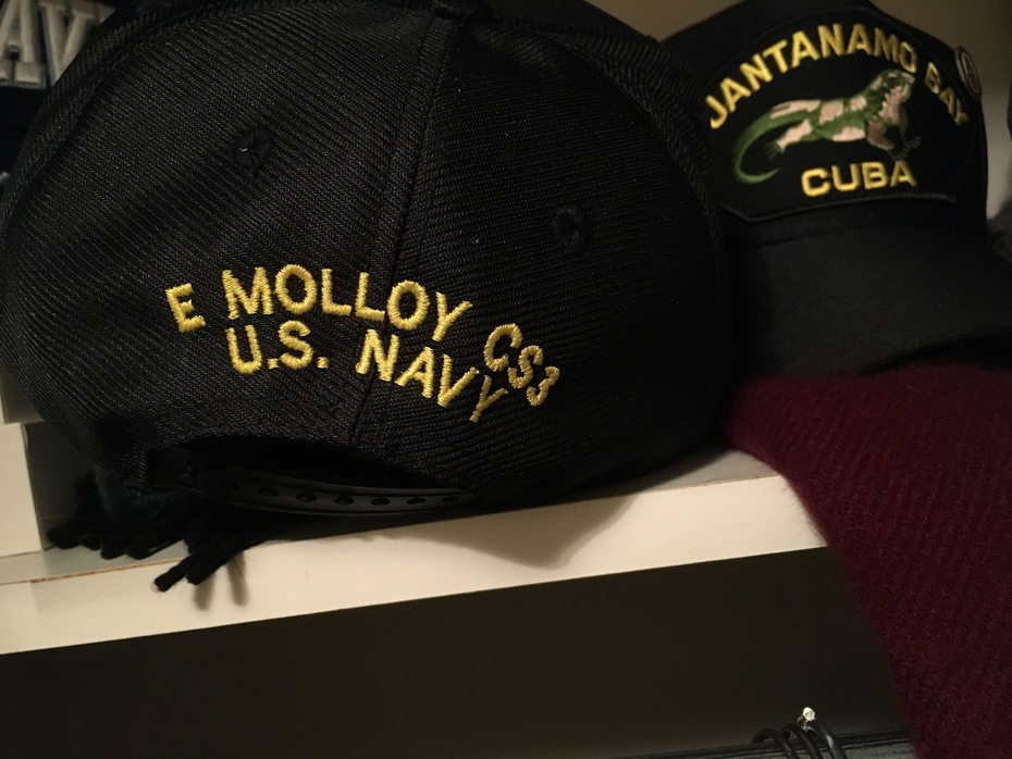 Norfolk cap embroidered on back