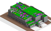 3D BIM MEP Model of Industrial Building