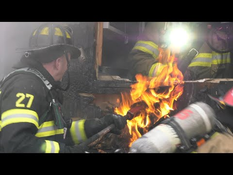 Multiple alarm house fire, Bath, Pa.