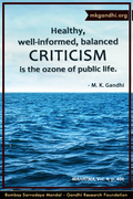 Thought For The Day ( CRITICISM )