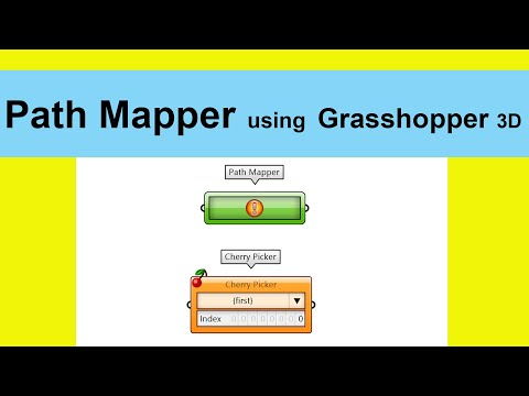 Path Mapper using Grasshopper 3D