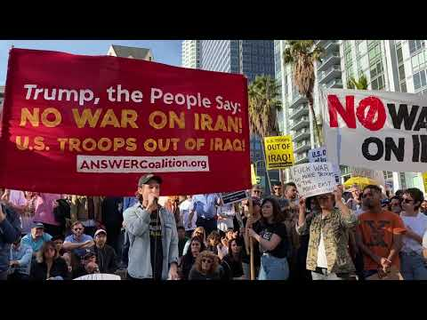Mike Prysner Speech: US Troops Out of Iraq! No US War on Iran!