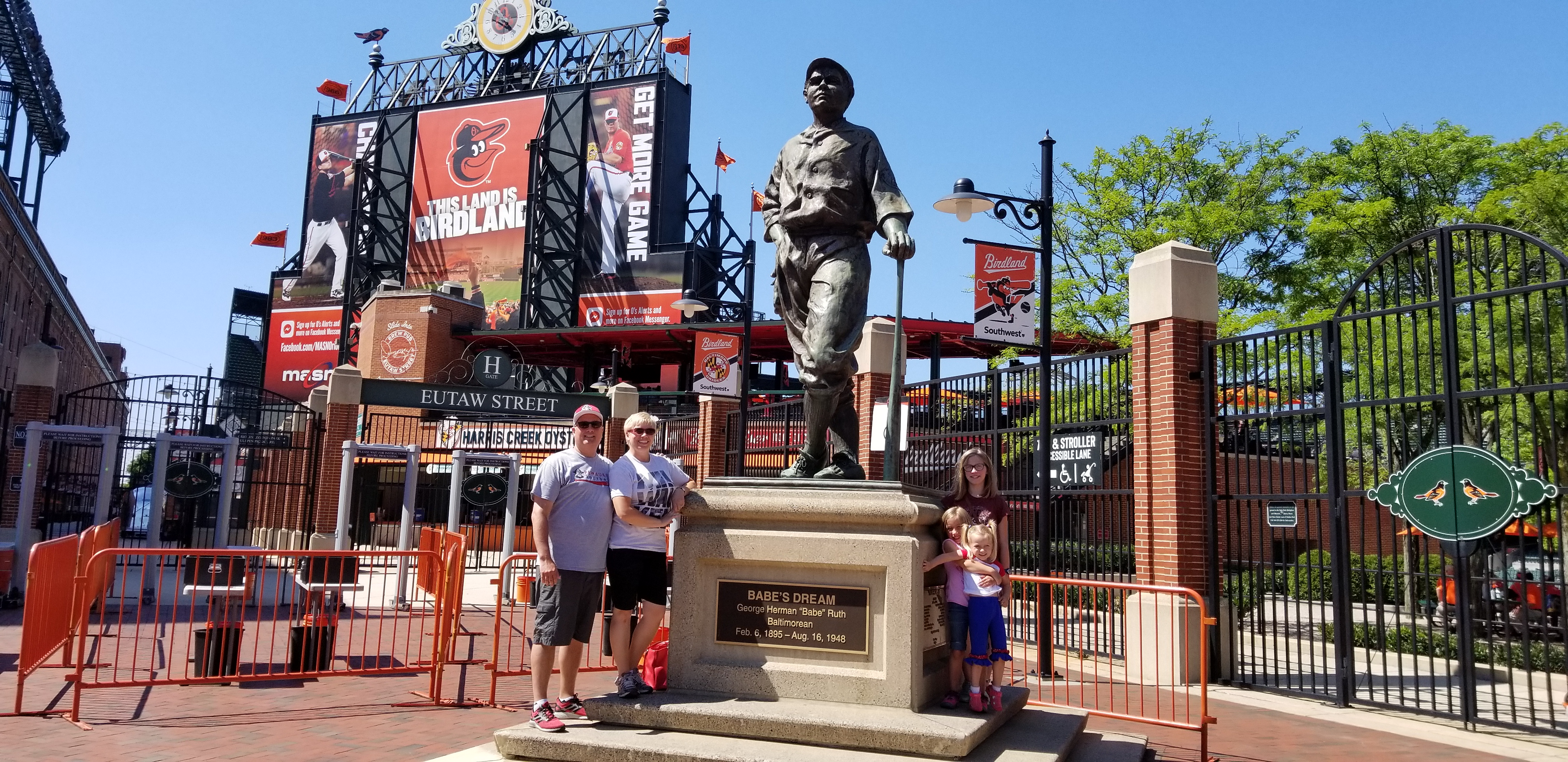 Camden Yard hours before game time.