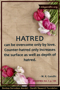Thought For The Day ( HATRED )