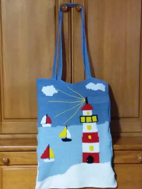 K640_maritime Leuchtturm Tasche