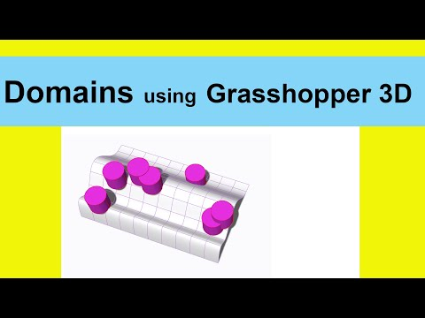 Domains using Grasshopper 3D