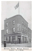 Seven Oaks Pub (Skolars Bar), Wood Green, c1905